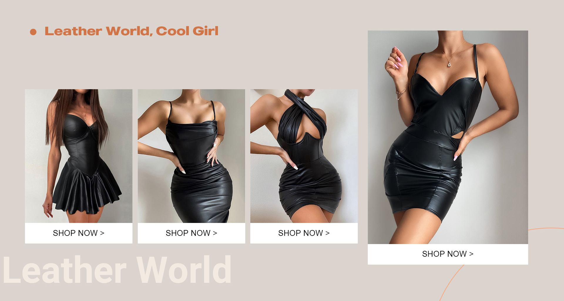 Leather world,cool girl