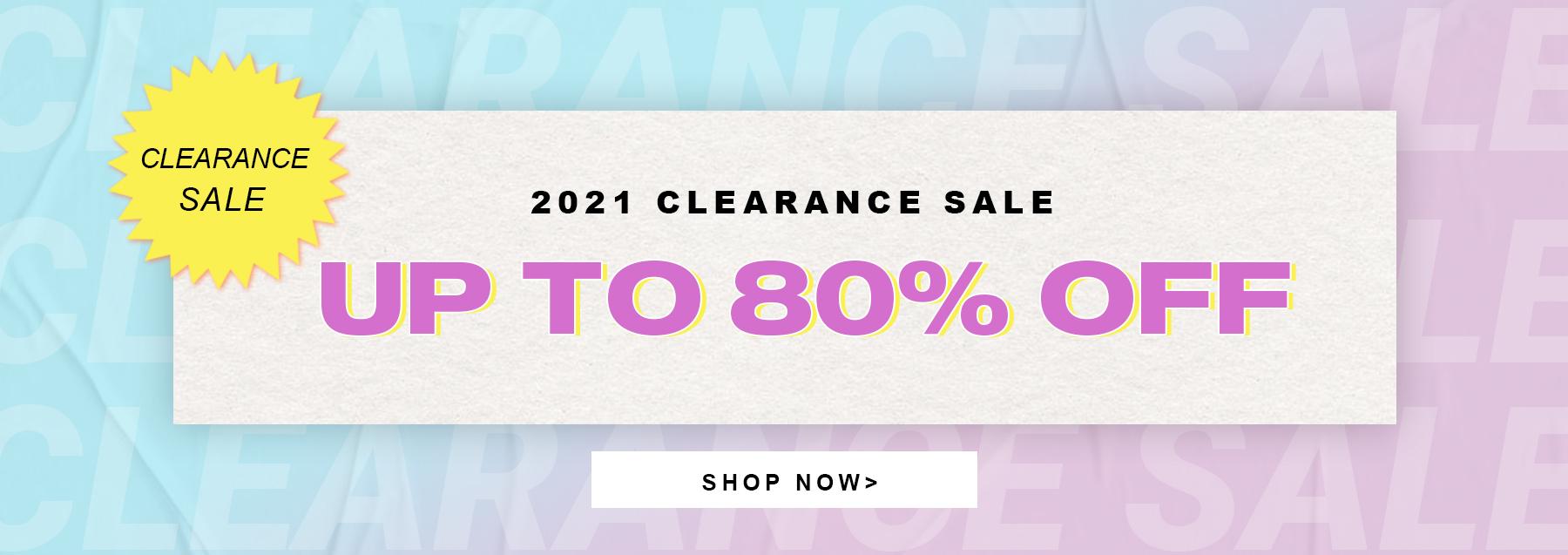 #2021 Clearance Sale