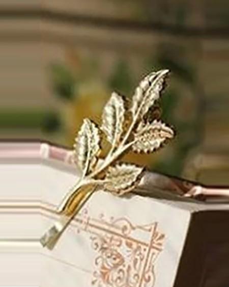 1PCS Leaf Pattern Braidal Wedding Hair Clip