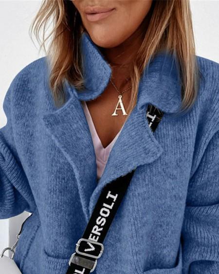 Long Sleeve Pocket Detail Cardigan