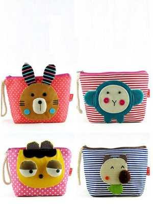 New Hot Lovely Cute Cartoon Makeup Cosmetic Bag Coin Bag