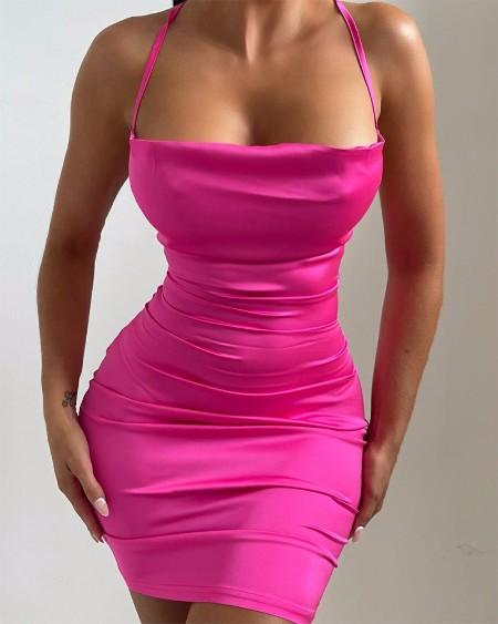 Cowl Neck Cami Bodycon Dress