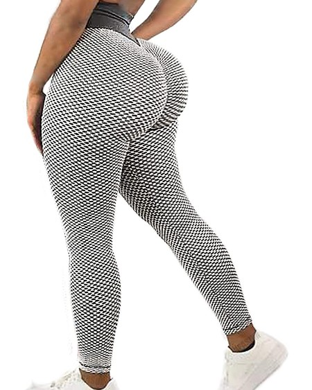 Butt Lift Tummy Control Yoga Pants Gym Workout Booty Scrunch Tights
