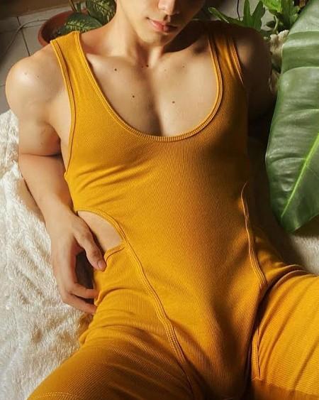 Solid Color Vest Sleeveless Cut-out Jumpsuit Pajamas Sets