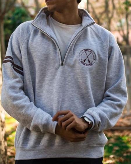 Long Sleeve Patchwork Embroidery Zipper Sweatshirt