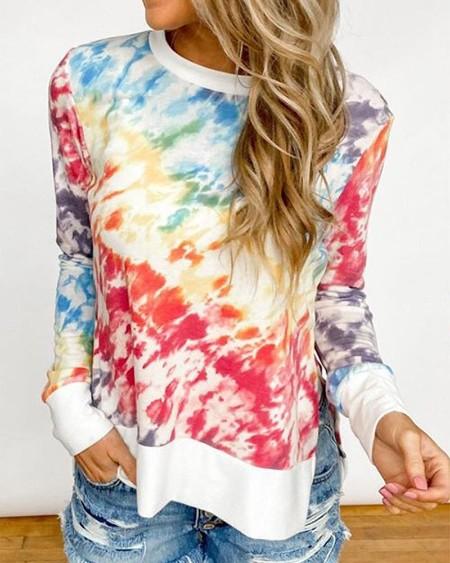 Tie Dye Round Neck T-shirt