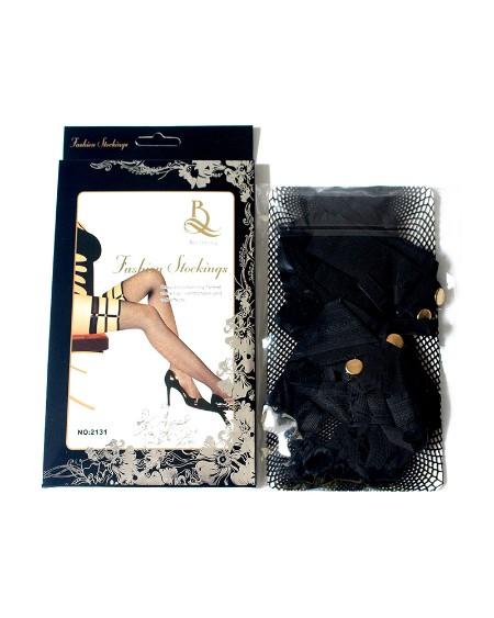 1Pair Fishnet Cutout Design Stockings
