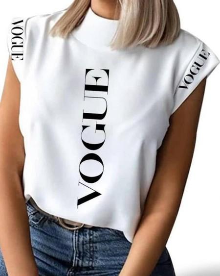 Short Sleeve Letter Print T-Shirt