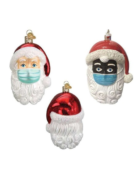Christmas Ornament Santa Wearing a Face Mask
