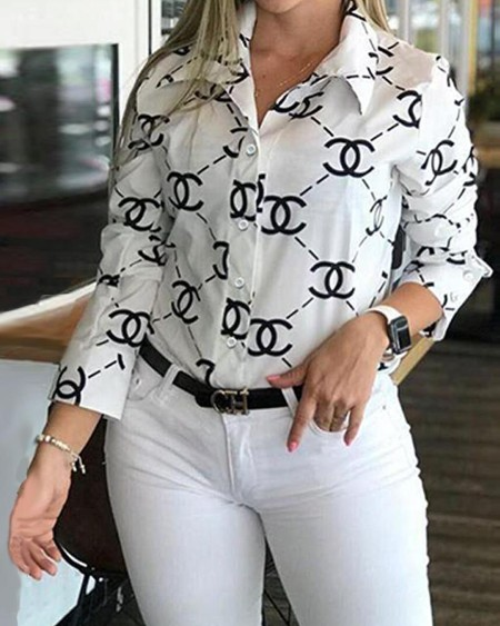 Double C Print Shirt