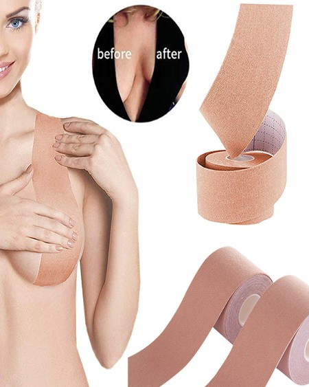 1 Roll Comfort Sexy Seamless Bra Breast Lift Tape Body Invisible Nipple Cover Silicone Strapless Push Up Bra