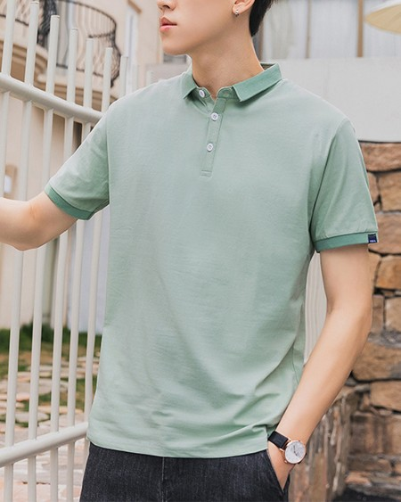 Solid Color Short Sleeve Polo Shirt T-shirt
