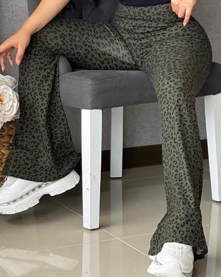 Cheetah Print Butt Liftint High Waist Bootcut Pants
