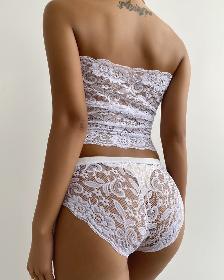 Sexy Wrapped Chest Lace Lingerie Set