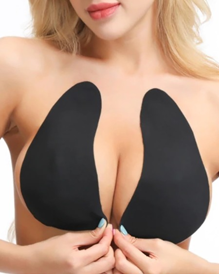 Adhesive Silicone Bra Strapless Sticky Bras Invisible Push Up Silicone Bra Breast Lift Tape Reusable