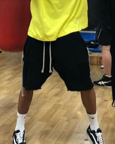 Frayed Hem Jogger Shorts