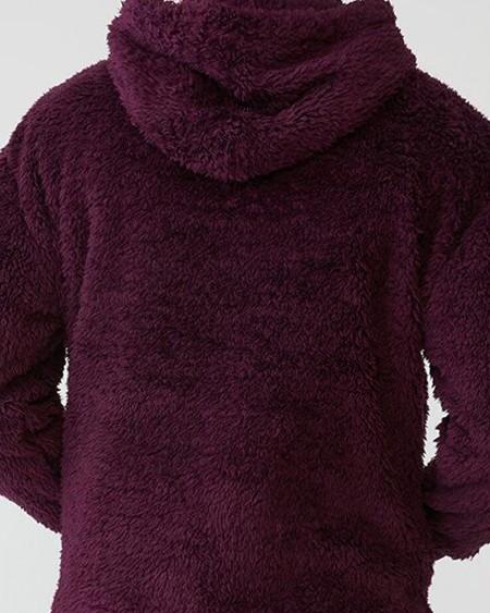 Mens Animal Printed Plush Long Sleeve Pocket Hoodie