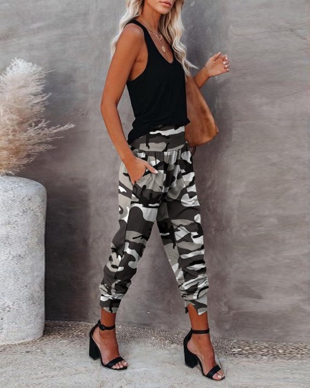 Personalize Camouflage Pocket Design Casual Pants
