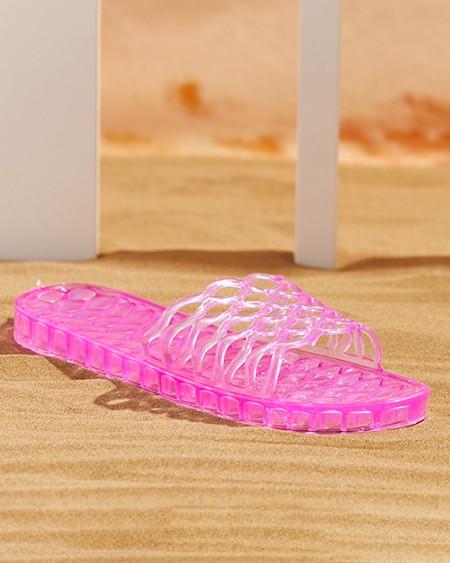 Clear Perspex Cutout Open Toe Casual Slipper