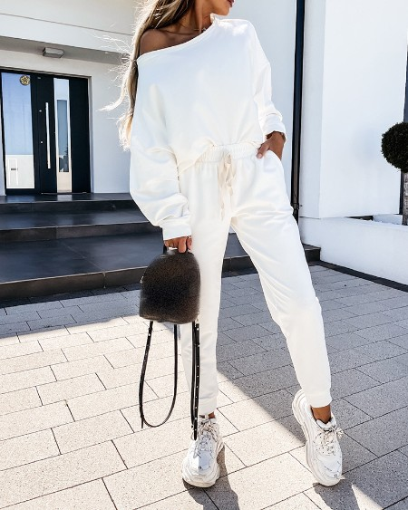 Long Sleeve Top & Drawstring Pants Set