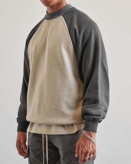 Color Block Long Sleeve Polar Fleece Sweatshirt T-shirt
