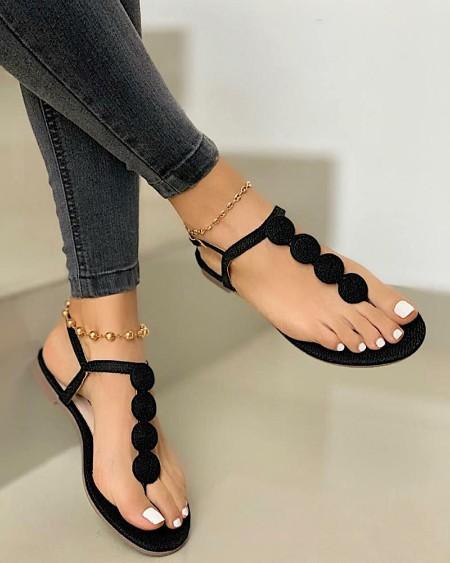 Open Toe Thong Sandals