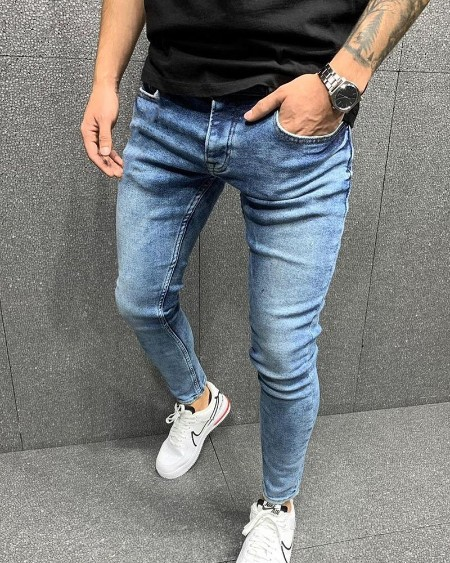 Solid Color Skinny Jeans