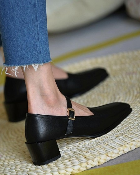 Solid Color Shallow Mouth Sandals