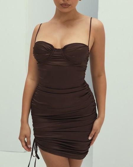 Solid Sleeveless Slim Bodycon Mini Dress