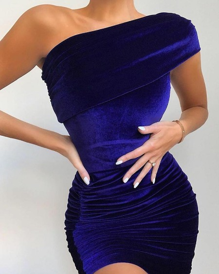 Solid Color Sleeveless Skinny Waist Dress