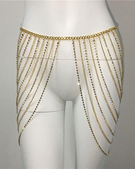 1PCS Multi Rhinestone Layered Waist Chain