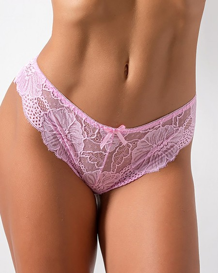 Bowknot Design Crochet Lace Panties