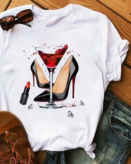 Women's Graphic Print Short Sleeve Casual T-Shirt