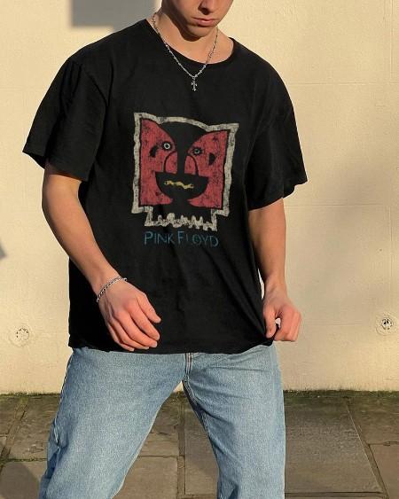 Rock Band Patterns Print Short Sleeve Loose T-shirts