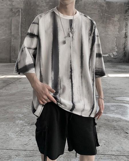Tie Dye Short Sleeve Loose T-shirts