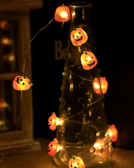 Halloween Skull Light String Decoration Light 10LED Lights For Halloween Party, Yard, Haunted House Decorations