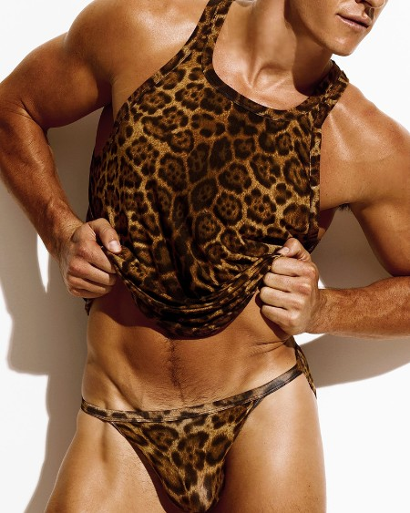 Leopard Sleeveless Tanks With Panties Sexy Sets