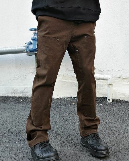 Solid Color Straight Baggy Pants