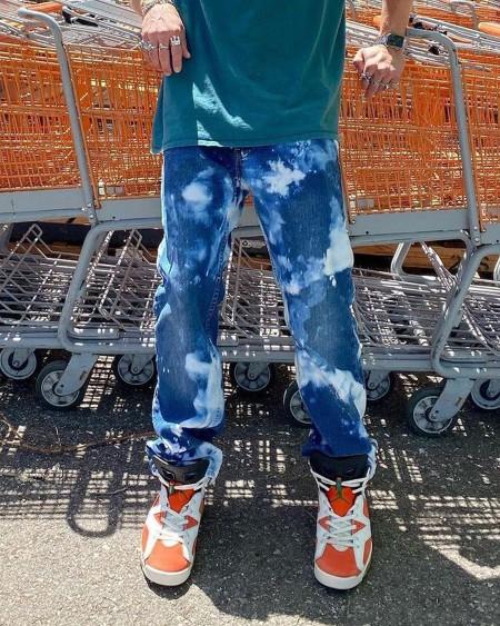 Tie Dye Loose Straight Leg Wide Leg Pants