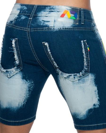 Tie Dye Print Skinny Short Pants