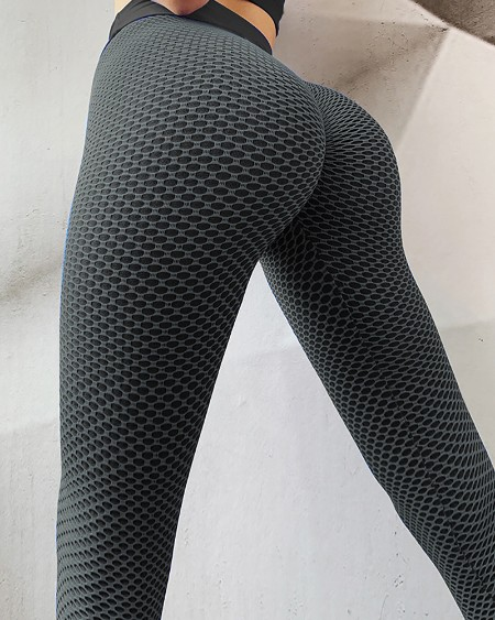 Ruched Butt Lifting High Waist Yoga Pants Tummy Control Stretchy Textured Booty Tights