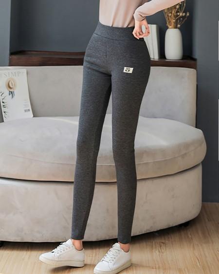 High Waist Super Thick Winter Fleece Grey Leggings