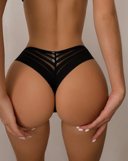Breathable Sheer Mesh Ice Silk Panty