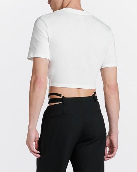 Solid Color Skinny Short Sleeve Short T-shirt