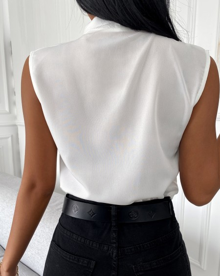 Sleeveless V-Neck Plain Casual Top