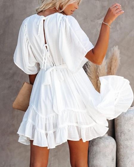 Fit & Flare Ruffle Dress