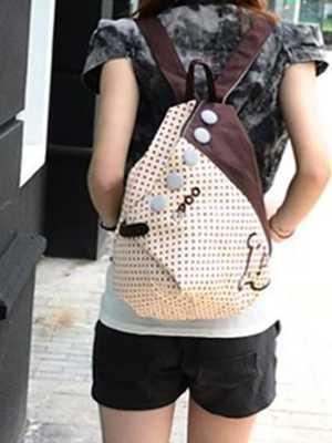 Girl's Canvas Backpack Rucksack Shoulder Bag Cute Shopp