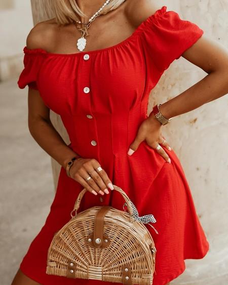 Solid Short Sleeve Slim Mini Dress