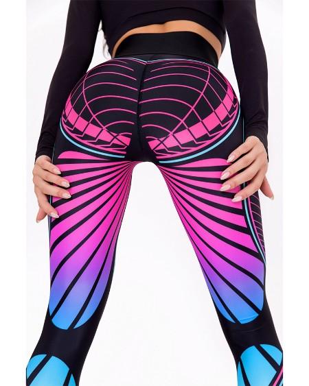 Multicolor Skinny High Waist Yoga Pants