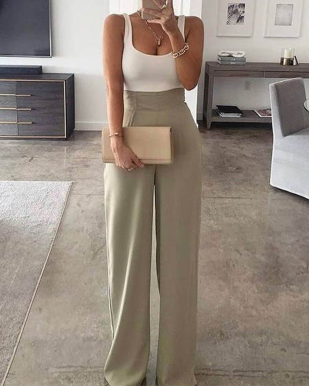 Plain Spaghetti Strap Patchwork Wide Leg Jumpsuit Casual Sleeveless Long Pants Outfits
